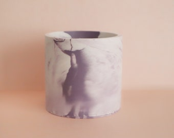 Marble-Effect Pot, Pencil Holder, Beauty Brush Holder, Small Plant Pot, colour, gift, eco-friendly