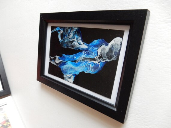 Blue Smoke Abstract Acrylic Paint
