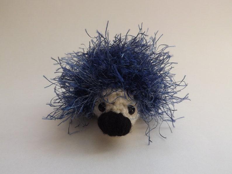 Blue Hedgehog Amigurumi Stuffie Small Stuffed Animal | Etsy