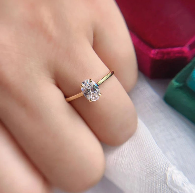 Engagement Ring Perfect Gift for your woman Proposal Ring Gift For Her Love words and action ring 10K Ring
