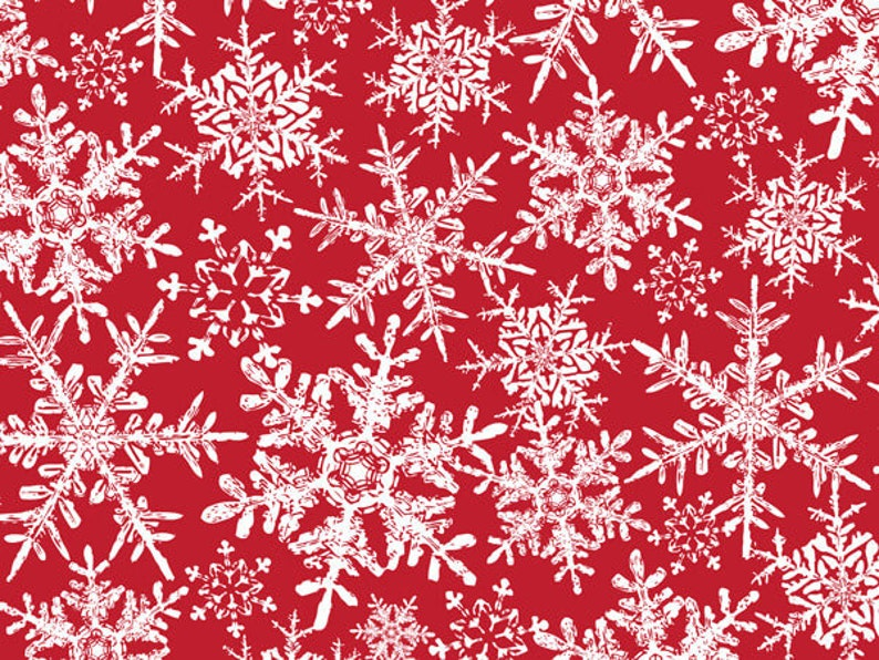 Winter Snowflakes Glossy Christmas Gift Wrapping Paper