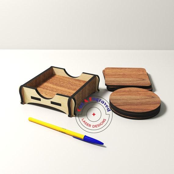 Coaster svg Laser cut files Mug stand Portavasos laser Coffee coasters Wood coasters Housewarming gift Kitchen svg files for Cricut