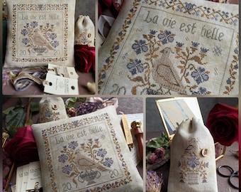 La Vie Est Belle PDF DIGITAL/ Stitches through the years/cross stitch pattern