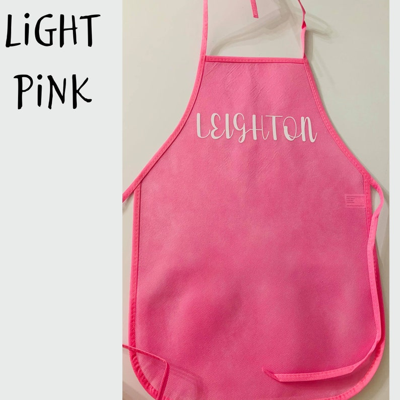 and pretend play ETC.. Personalized Kids Art Aprons--- 100 /% Polyester-- Perfect for painting Other gifts Cooking EASTER Birthdays
