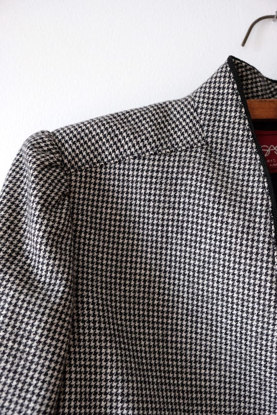 Vintage 80s SASSON Houndstooth Wool Blazer   Wome… - image 5