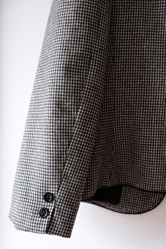 Vintage 80s SASSON Houndstooth Wool Blazer   Wome… - image 8