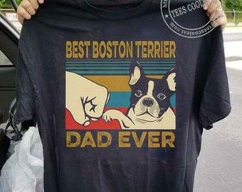 Awesome Boston Terrier Owner   Fathers  T-Shirt   Funny Gift  Dog
