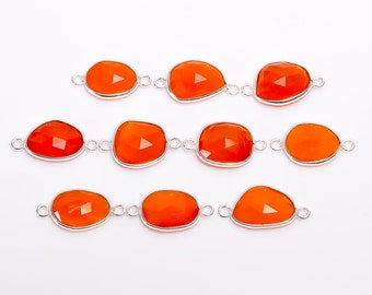 Pearl or Gemstone Connector Triple Strand Clasp  Carnelian /& 925 Sterling Silver 18K Yellow Gold Plated Vermeil #S648