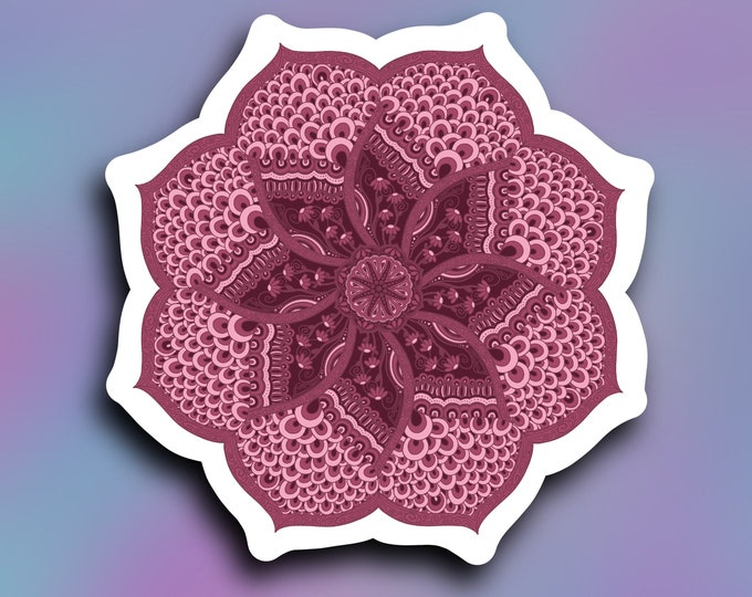 Blush Loops Mandala vinyl decal/ StickersandMorebyLB/ Layla Blossomsdecals for cars, tumblers, cups, laptops or walls/ weatherproof