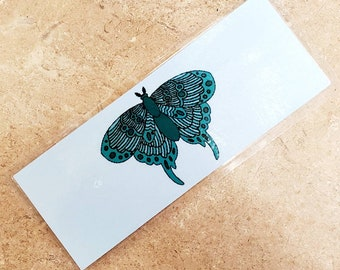 50% OFF Moth bookmarks (metal and cardstock option)/ StickersandMorebyLB/ Layla Blossoms