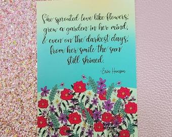 Her smile shined/ Art Print/ Layla Blossoms/ StickersandMoreByLB/ Art Decor/ Home Decor