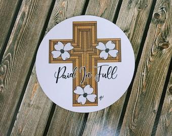 Paid in full Mousepad/ Cross/ Christian/ Layla Blossoms/ StickersandMoreByLB