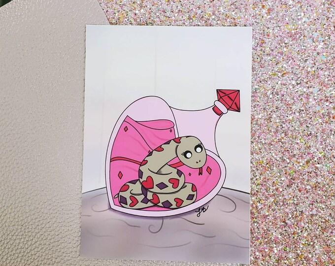 Poisonous Love Art Print/ Layla Blossoms/ StickersandMoreByLB/ Art Decor/ Home Decor