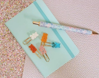 Gummy Bear Paper Clips 5pc/ StickersandMorebyLB/ Layla Blossoms