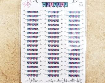 Weekend Banner Planner Stickers/ Sticker Sheets/ StickersandMorebyLB/ Layla Blossoms/ StickersandMorebyLB/ Layla Blossoms