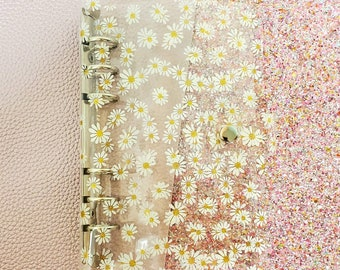 Yellow Daisy clear A6 Budget Binder/ Planner/ Journal ONLY! (No envlopes included)/ StickersandMorebyLB/ Layla Blossoms