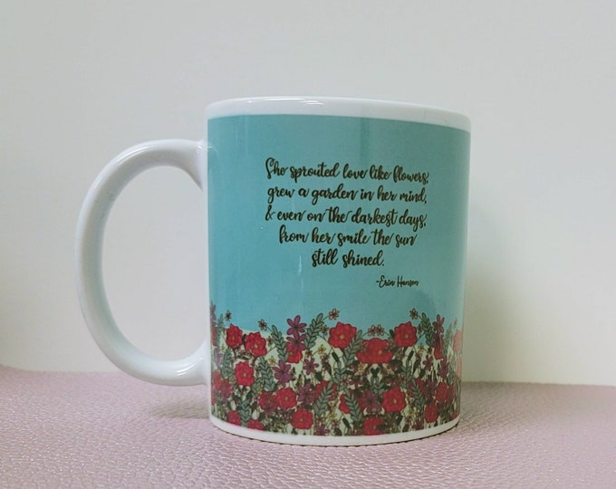 Her Smile Shined Ceramic Mug/ StickersandMorebyLB/ Layla Blossoms/ Mug handmade/ Mug Art