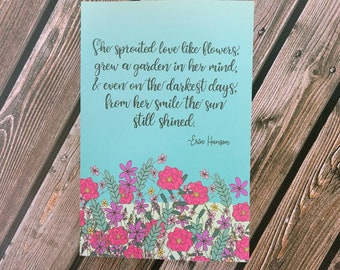 Her Smile Shined lined matte paperback Notebook, journal/ StickersandMorebyLB/ Layla Blossoms