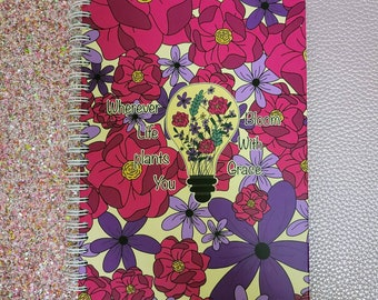 Bloom With Grace Spiral Notebook - Ruled Line