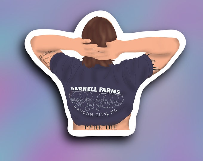 Nate the farmer vinyl decal/ StickersandMorebyLB/ Layla Blossomsdecals for cars, tumblers, cups, laptops or walls/ weatherproof