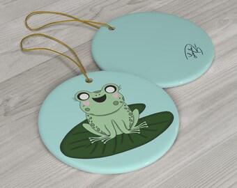 Dawn The Froggy Ceramic Ornaments