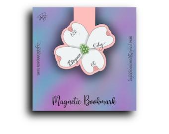 Dogwood, Bryson City, NC, 828 Magnetic Bookmark/ StickersandMorebyLB/ Layla Blossoms