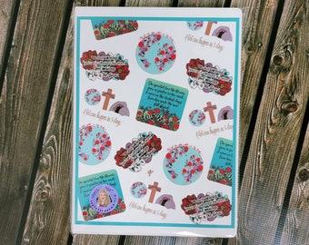 Faith Part Fifteen A4 8 1 4x 11 3\4 leatherette journal/ Notebook/ Ribbon bookmark/ Layla Blossoms/ StickerandMorebyLB