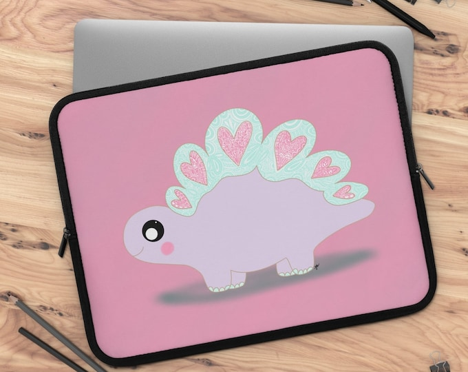 Lovesaurus Laptop Sleeve / tablet sleeve/ Layla Blossoms LLC/ Stickersandmorebylb