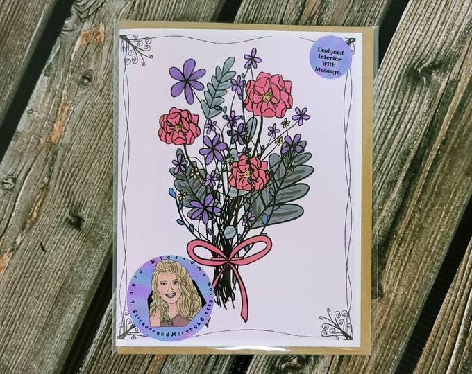 Floral Anniversary card-  greeting card- StickerandMorebyLB/ StickersandMorebyLB/ Layla Blossoms
