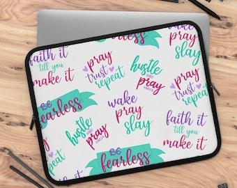 Faith Part 2 Laptop Sleeve/ tablet sleeve/ Layla Blossoms LLC/ Stickersandmorebylb