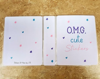 O.M.G Cute Stickers Sticker Book/ StickersandMorebyLB/ Layla Blossoms