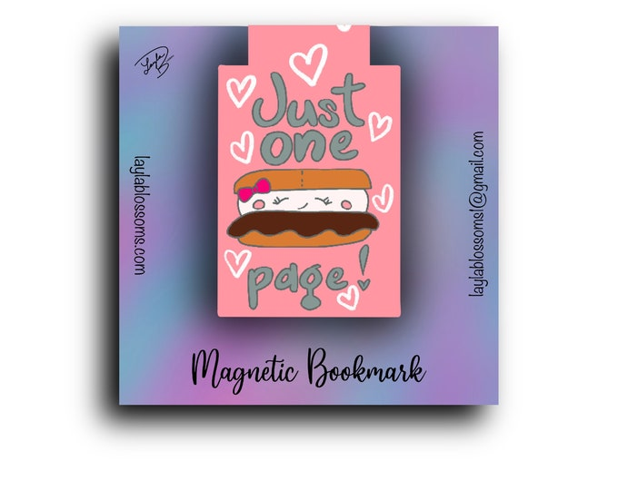 Just one s'more page Magnetic Bookmark/ StickersandMorebyLB/ Layla Blossoms