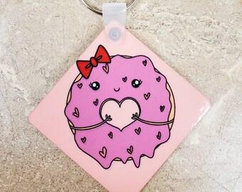 Scarlett the Donut double sided keychain/ StickersandMorebyLB/ Layla Blossoms