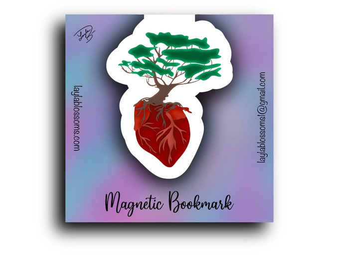 Love Tree Magnetic Bookmark/ StickersandMorebyLB/ Layla Blossoms