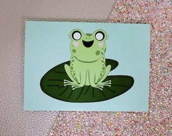 Dawn The Froggy card- greeting card- StickerandMorebyLB/ StickersandMorebyLB/ Layla Blossoms