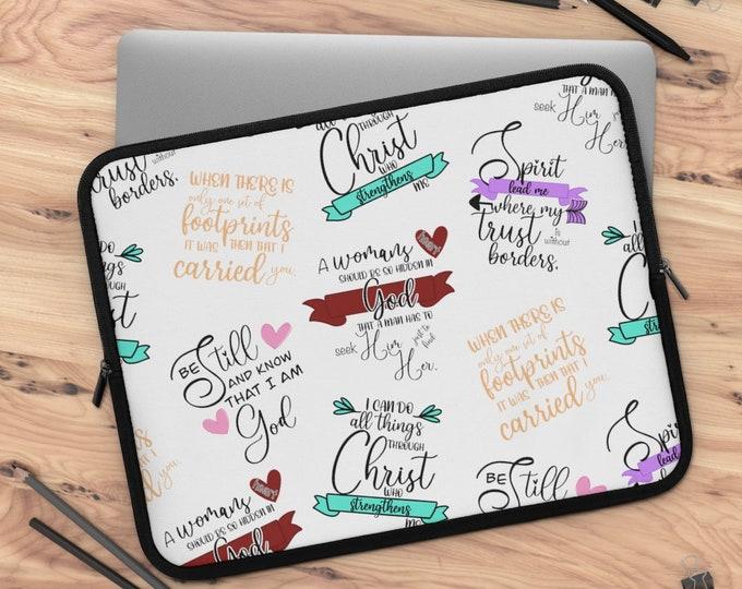 Faith Part 3 Laptop Sleeve/ tablet sleeve/ Layla Blossoms LLC/ Stickersandmorebylb