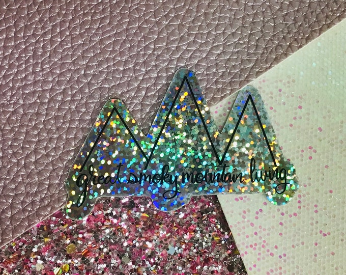 Great Smoky Mtn Living glitter vinyl decal/ StickersandMorebyLB/ Layla Blossoms/vinyl sticker