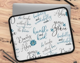 Faith Part 4 Laptop Sleeve/ tablet sleeve/ Layla Blossoms LLC/ Stickersandmorebylb