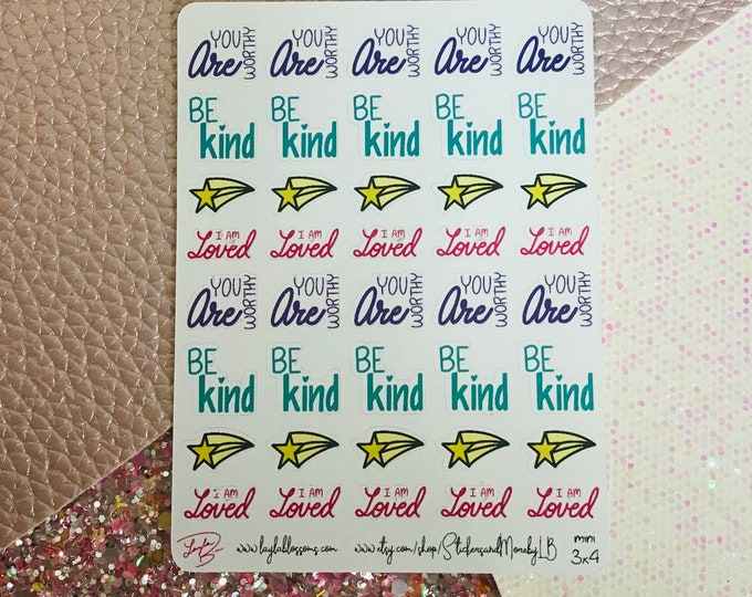 Self Care Planner Stickers/ StickersandMorebyLB/ Layla Blossoms
