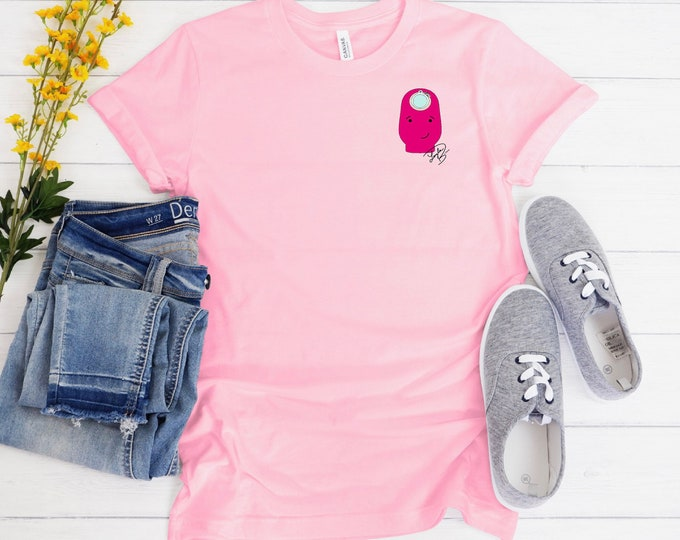 Pink Ostomy Unisex Jersey Short Sleeve Tee/ Layla Blossoms/ StickersandMorebyLB