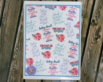 Faith Part Thirteen A4 8 1 4x 11 3\4 leatherette journal/ Notebook/ Ribbon bookmark/ Layla Blossoms/ StickerandMorebyLB