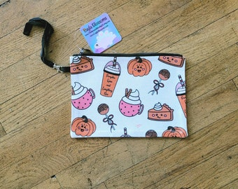 Punkin pencil pouch/ cosmetic pouch/ stickersandmorebylb/ layla blossoms
