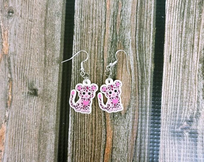 Carla the Cheetah Earrings/ Layla Blossoms/ sterling silver/ stickersandmorebylb