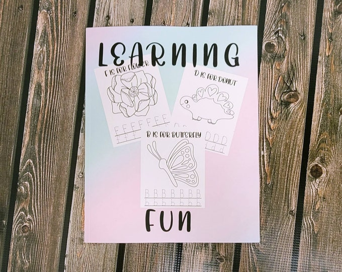 Layla Blossoms Learning Fun Coloring book Vol One/ Stickersandmorebylb/ coloring pages/ coloring books for kids