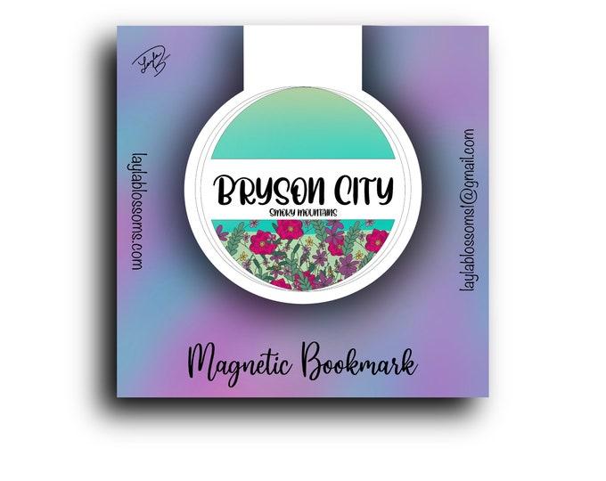 Smoky mountains, Bryson City garden Magnetic Bookmark/ StickersandMorebyLB/ Layla Blossoms