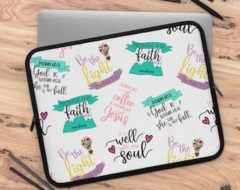 Faith Part 1 Laptop Sleeve/ tablet sleeve/ Layla Blossoms LLC/ Stickersandmorebylb