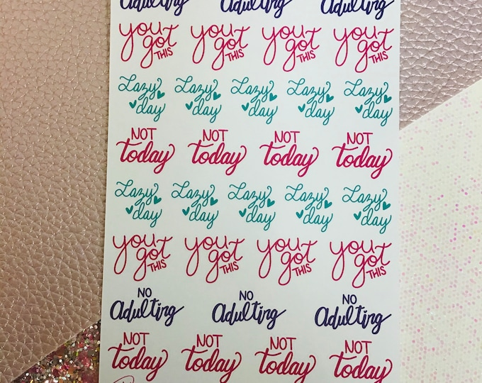 Adulting Planner Stickers / Sticker Sheet / StickersandMorebyLB / Layla Blossoms/ StickersandMorebyLB/ Layla Blossoms