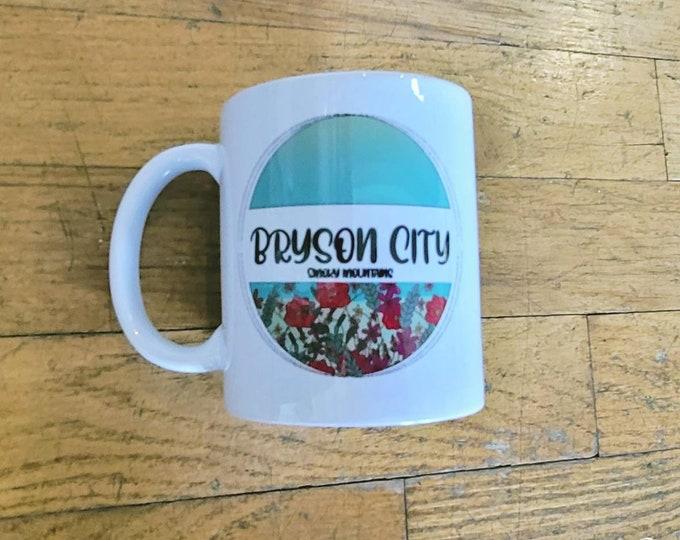 Bryson City Circle Garden Ceramic Mug/ StickersandMorebyLB/ Layla Blossoms/ Mug handmade/ Mug Art