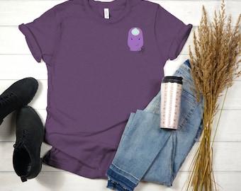 Purple Ostomy Unisex Jersey Short Sleeve Tee/ Layla Blossoms/ Stickersandmorebylb