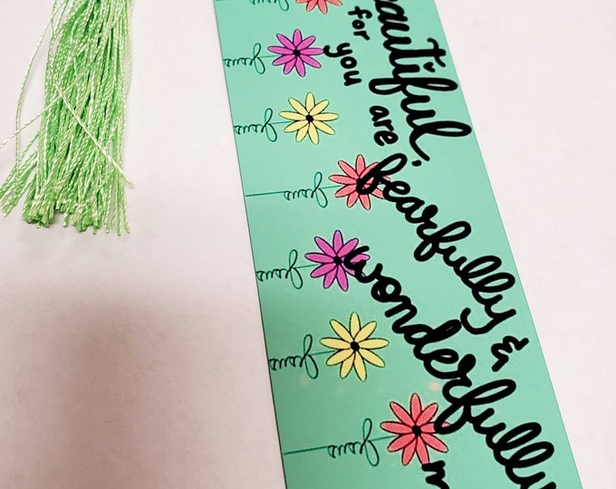 50% OFF SALE Wonderfully made bookmarks (metal and cardstock available)/ StickersandMorebyLB/ Layla Blossoms